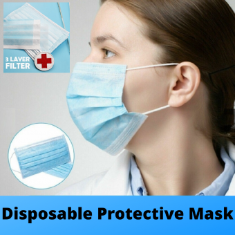 [READY STOK] Disposable Masks Medical Mask Surgical Mask 3-Ply Anti-virus Anti-dust Earloop Mou