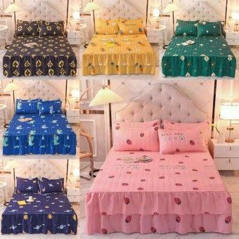 [READY STOK] CADAR BEROPOL VIRAL ANTI KEDUT Fitted Bedsheet FREE 2PCS PILLOW CASE Mattress Cover Cot