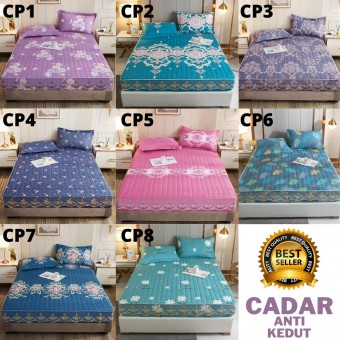 [READY STOK] PREMIUM QUALITY CADAR VIRAL ANTI KEDUT Fitted Bedsheet FREE 2PCS PILLOW CASE Ma